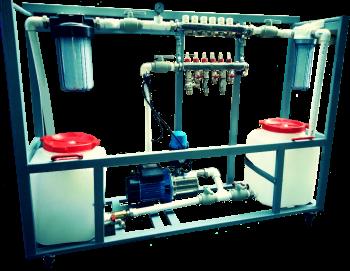 Машина промывки и опрессовки пресс-форм